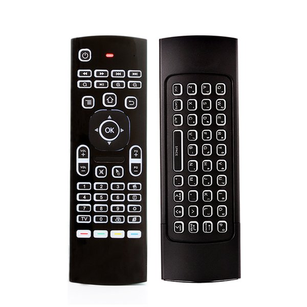 best selling X8 Backlight Mini Keyboard 2.4GHz Wireless Keyboard Remote Control IR Learning 6 Axis Fly Air Mouse Backlit Gampad For Android TV Box