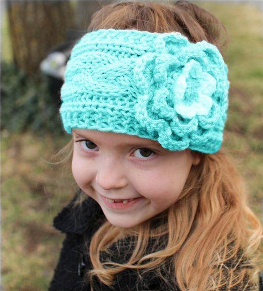 Großhandel Mädchen Kinder Winter Große Wolle Häkeln Stirnbänder ...