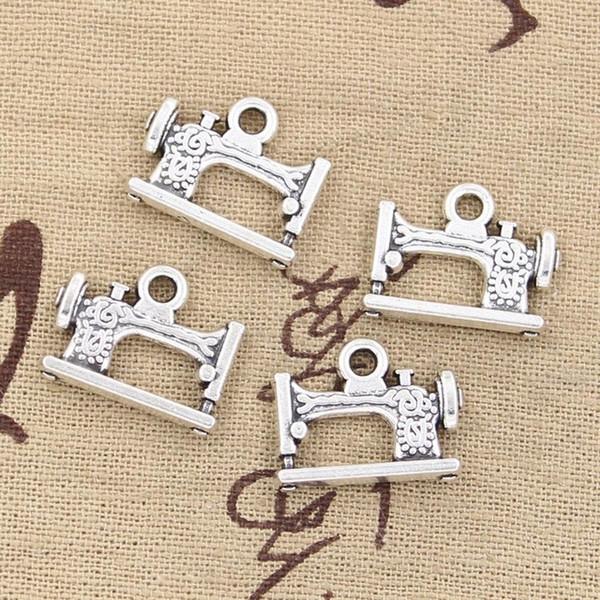 All'ingrosso-99Cents 6pcs Charms vintage macchina da cucire a pedale 20 * 15mm Antique Making pendente fit, Vintage argento tibetano, collana braccialetto