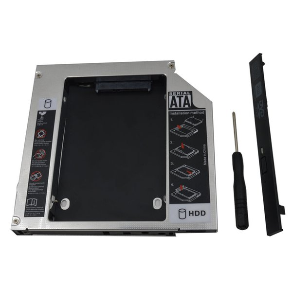 """Wholesale- Original Chip Universal 2nd HDD Caddy 12.7mm IDE to SATA 3.0 Adapter for 2.5""""SSD HDD Case Enclosure for Laptop CD-ROM Optibay"""