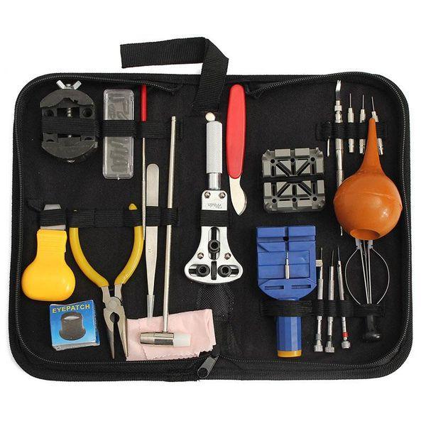 top popular 22pcs Watch Repair Tool Kit Case Opener Link Spring Bar Remover Carrying Box For Watchmaker Watch repair tool glitter2008 2021