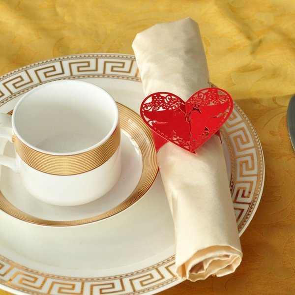 Wholesale- 10Pcs Red Pigeon Napkin Rings/Wrap Wedding Holder Weddings Party Home Decoration Table Decoration