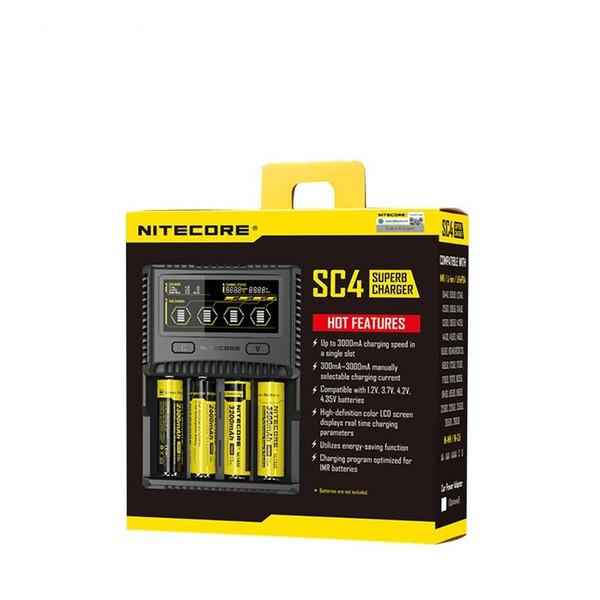 Nitecore SC4 SUPERB LCD Battery charger 3A 6A US EU UK AU AA // IMR 18650