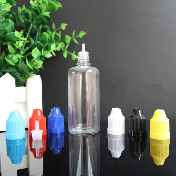 High Quality Clear E Liquid Bottles Wholesale Empty PET Plastic Dropper  Bottles 60ml With Long Thin Tips And Childproof Caps For Vape Vape Juice