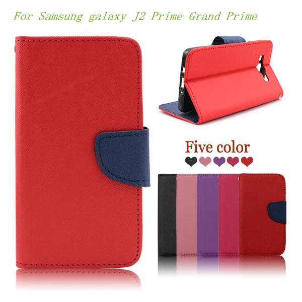 For Samsung galaxy J2 Prime Grand Prime flip Leather luxury wallet pouch case cover inside credit card Slots