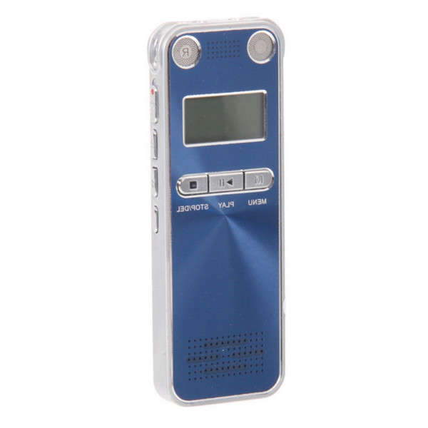 Wholesale- High Quality Telephone Voice Recorder Professional Blue 8GB USB Rechargeable Digital Portable Recorder with MP3 player/WAV/WMA