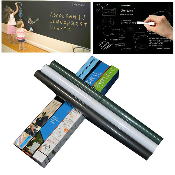 top popular Chalkboard Wall Stickers Blackboard Sticker Removable Vinyl PVC Children Drawing Chalkboard Decor Mural Decals Art Chalkboard 45*200CM 2021