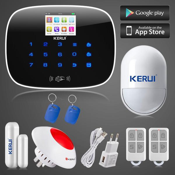 LS111- KERUI ios android app control 8 independent zones GSM home alarm system door/window sensor open remind+wireless flashing siren