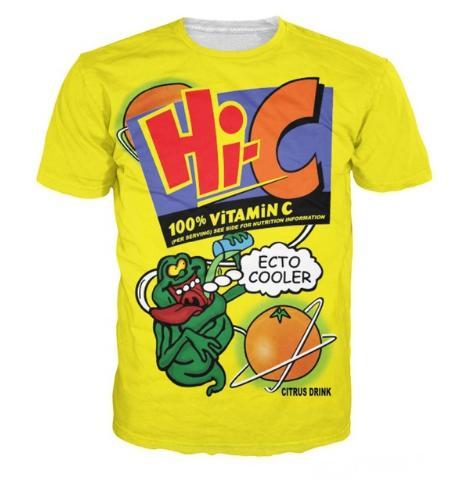 La más nueva moda para hombre / mujer Ecto Cooler Orange Hi-C Citrus Drink Summer Style Tees 3D Imprimir camiseta casual Tops más el tamaño