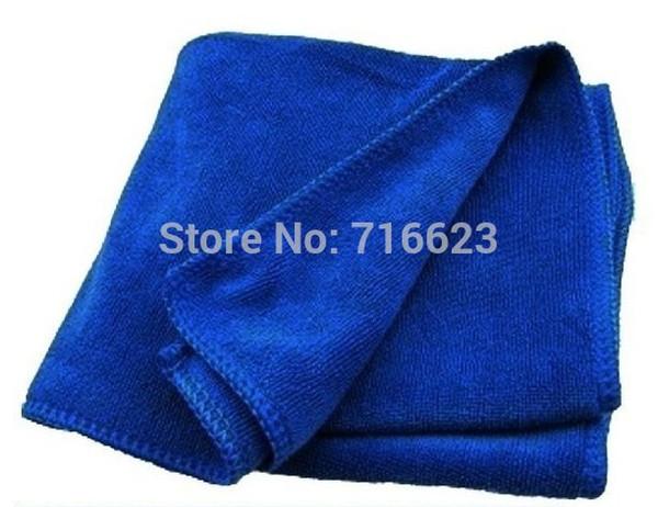 Wholesale- 2 pcs Car wash cleaning Cloth 40cmx40cm blue Super Micro fiber glass towel high quality Microfiber Household Wash Super Soft