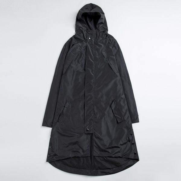 Atacado- Plus Size Alta Qualidade Mens Preto Trench Coats Masculino Hip Hop Irregular Windproof Impermeável Blusão Jaquetas Longas 4XL 5XL