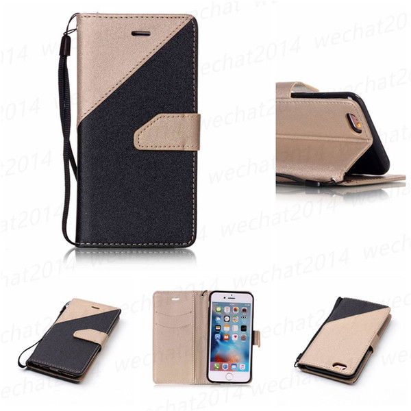 300PCS Wallet Flip PU Leather Case Stand TPU Cover With Card Slots for Samsung Galaxy S4 S5 S6 Edge S7 Edge No Package
