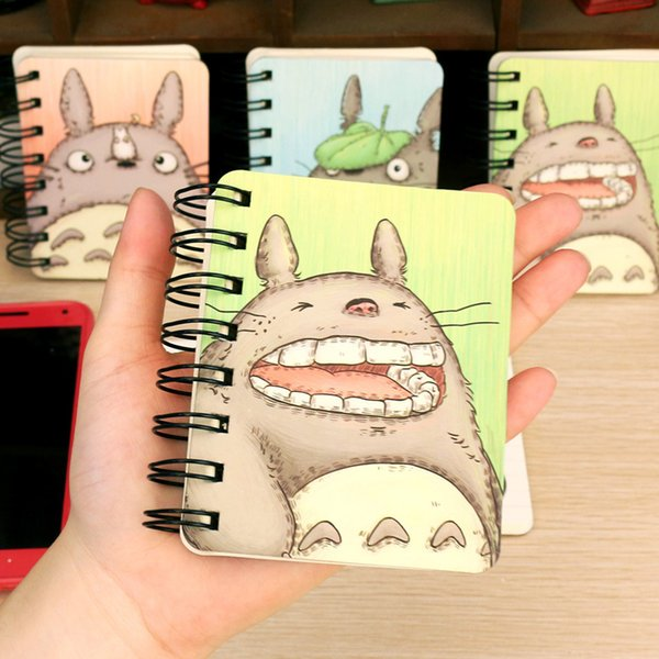 Cute My Neighbor Totoro Hard Cover Coil Book Portable Pocket Notebook Diary Notepad Girl stationery