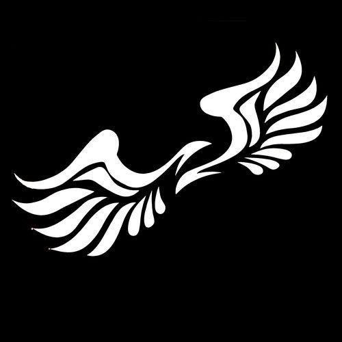 Creative Car Styling Stickers Angel Wings Etiqueta Engomada Del Coche Etiqueta Engomada Reflectante Impermeable Trasero Retrovisor Espejo Retrovisor