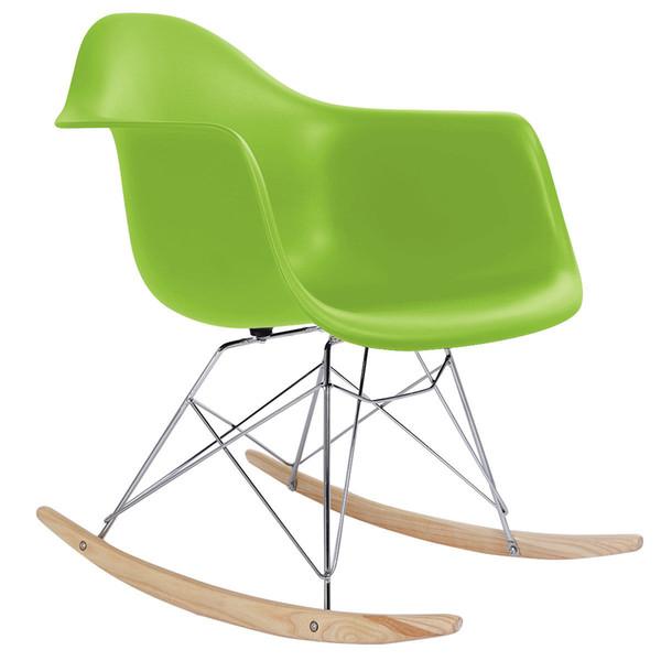 Eames RAR estilo meados do século moderno moldado plástico Rocker Rocker Shell braço cadeira