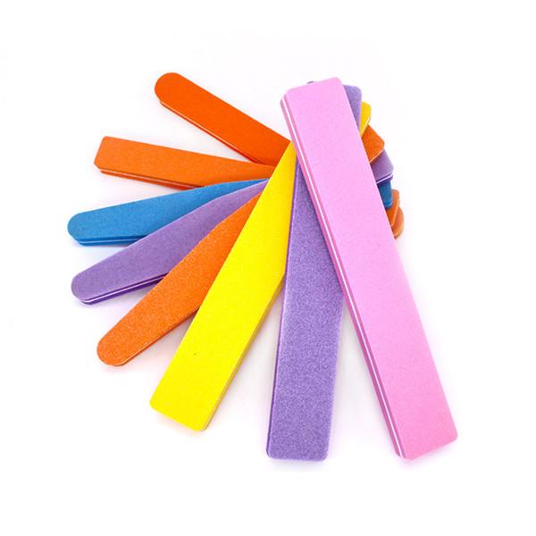 여러 가지 빛깔의 스폰지 광택 바 물 세차 스폰지 sandblade 양면 네일 파일 네일 파일 트림 못 도구