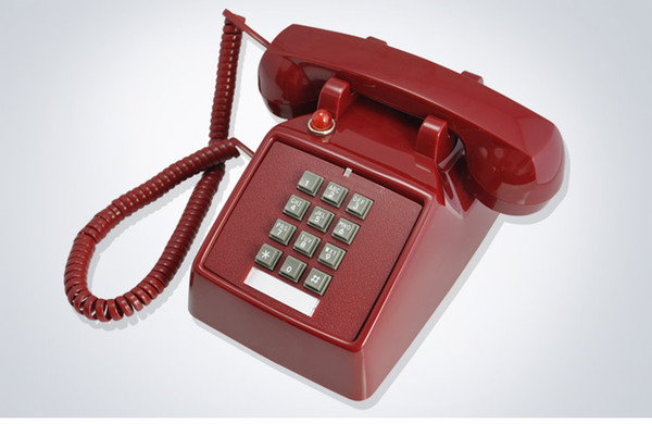 Old push-button type antique telephone of antique telephone of antique telephone machine ringing creative fashion