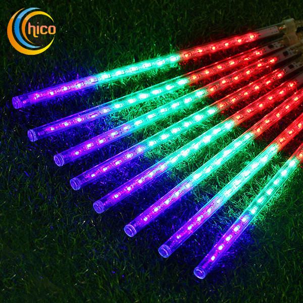 8 pz set Luce di Natale Nevicate Strisce di LED Tubi di pioggia di Natale 20 30 50 cm Meteor Shower Rain LED Tubi di illuminazione Spina UE UE