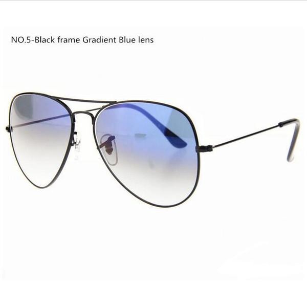New Arrival Men's Women's Metal Frame Gradient Lens Pilot Sunglasses (Glass lens) 58 mm / 62 mm