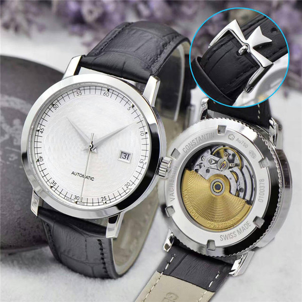 AAA New listing PATRIMONY mens luxury watches mens watches gold Tuo film three-pin date brand wristwatches