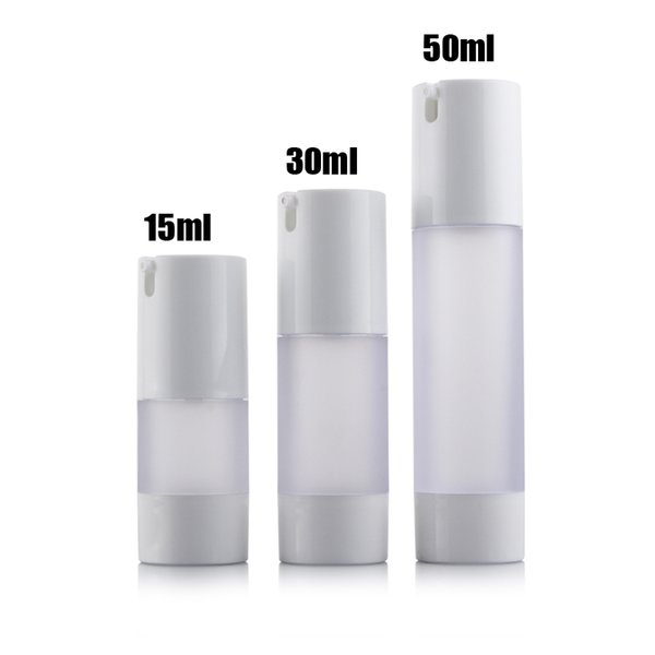 Free Shipping 300pcs/lot 50ML frosted airless bottle small plastic lotion bottle with airless pump used for Cosmetic Packaging
