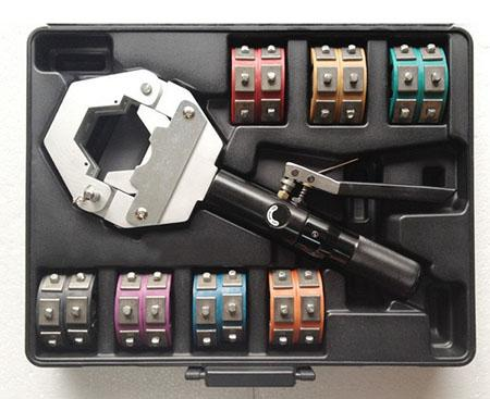 best selling auto A C Hose Fittings 71500 Crimping Tool Set Crimper Kit 1500 Hydraulic Hydra-Krimp with Die Set #8