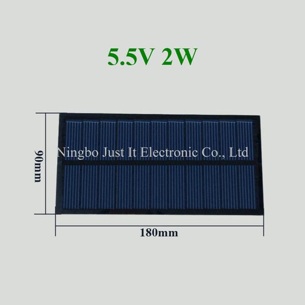 30pcs/lot PET Laminated Small Solar Cell 5.5V 365mA 2W 180*90mm