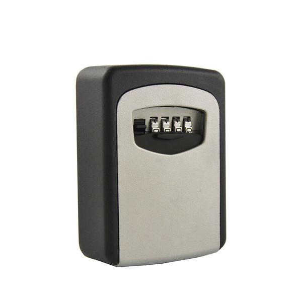 top popular Wall Mounted Combination Password Keys Hook Organizer Boxes Small Metal Secret Safe Box 2019