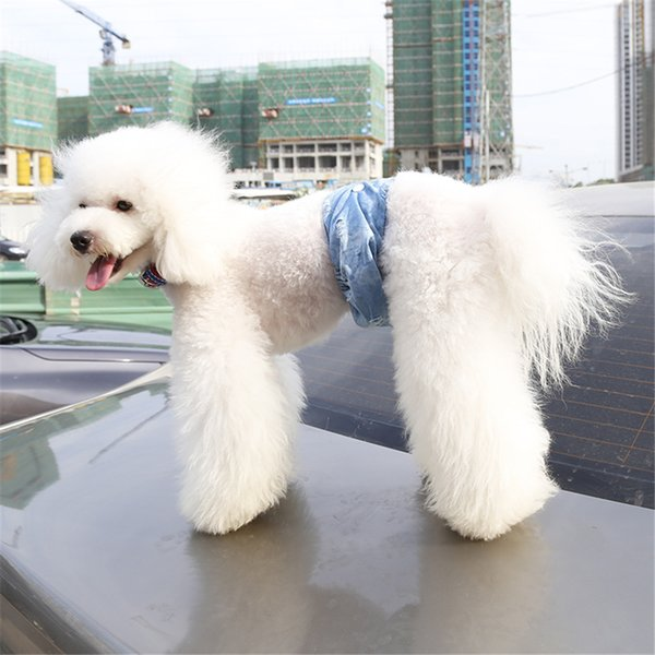 Dog Pants Jeans Material Soft Male Dog Physiological Pant- Cute Short Pants Diaper Underwear Hygienic Pet Dog Pants