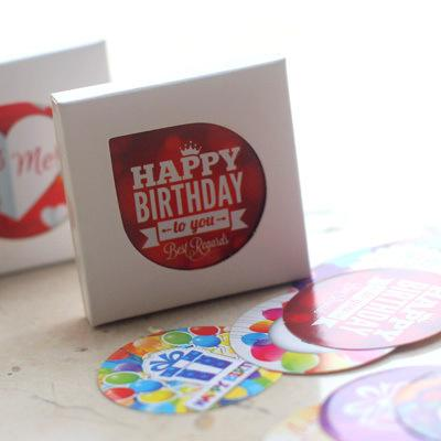 Cute Creative 38 Unids / set Happy Birthday Stickers Adhesive Stickers DIY Decoration Stickers Stationery