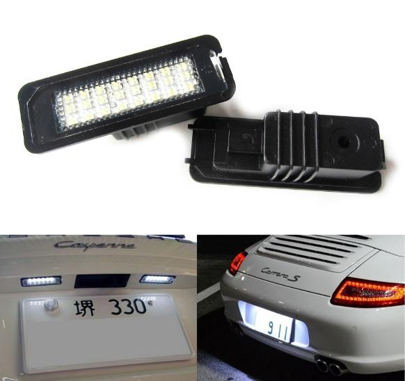 best selling 24SMD canbus LED License Plate Light Kit For Porsche Boxster Cayman Carrera Cayenne 987 997 958 No Error