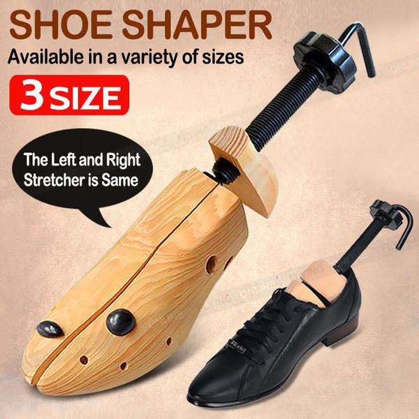 Árboles ajustables bidireccionales del zapato de la madera sólida camilla unisex del cuerno del cedro