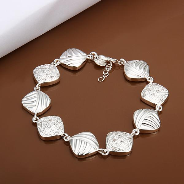 Free shipping Wholesale 925 Sterling silver plated Lobster-claw-clasps charm bracelets LKNSPCH333