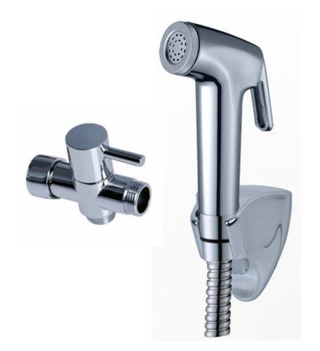 "best selling Free Shipping fashion Chrome Bidet spray gun Toilet flusher G7 8"" Brass T-adapter + ABS Strong pressurize Sprayer Hand Shower + 150cm Hose"