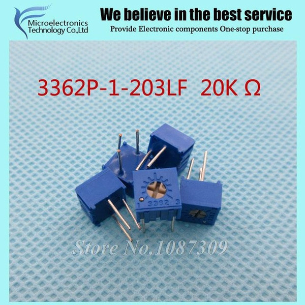 Wholesale- 50Pcs/Lot 3362P-1-203LF 3362P 203 20K ohm Trimpot Trimmer Potentiometer Variable resistor new original