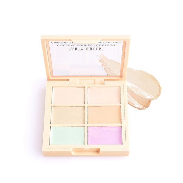 Party Queen 6 Color Concealer Palette Creamy Conceal Correct Contour Face Makeup Palettes Facial Make up