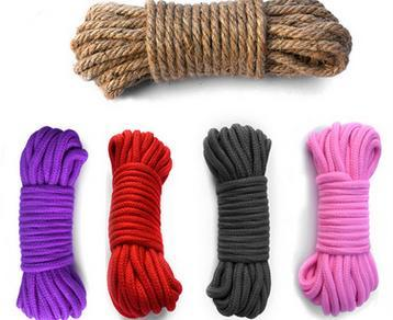 Erotic Toys 10M Soft Cotton SM Rope Comfortable and Harmless High Quality Cotton Rope Tied Bondage for Adult Couples Sex Toy Kit