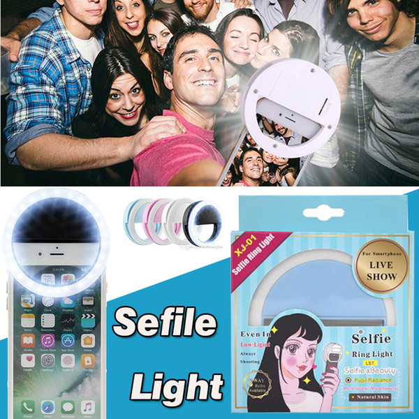 Portable Universal Selfie Ring Flash Lamp Mobile Phone LED Fill Light Selfie Ring Flash Lighting Camera Photography For Smartphone iPhone
