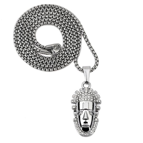 New Fashion Design Men Charm Hip Hop Chain Pendant Necklace Cool Filling Pieces Mens Hip Hop Rock Jewelry Necklaces For Mens