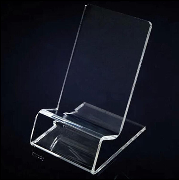 Acrylic Cell phone mobile phone Display Stands Holder stand for 6inch iphone samsung HTC xiaomi huawei hot sell