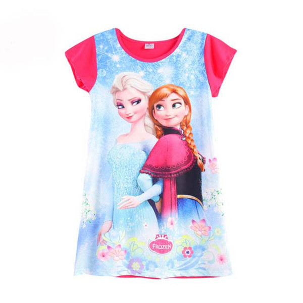 Best 2017 Summer Girls Dress Elsa Anna Mermaid Snow White Princess ...