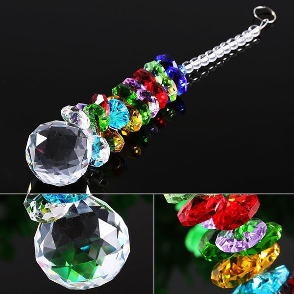 5PCS Lead K9 Crystal Ball Suncatcher Hanging Feng Shui Prisms Pendant Pendulum Window Decor 20mm W041