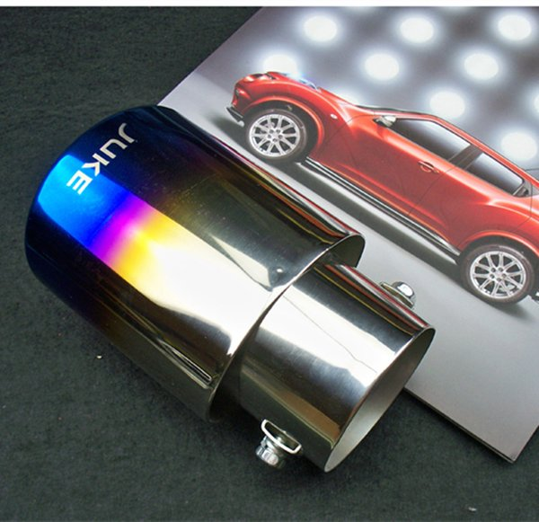 Styling Exhaust Pipe fit for Juke 2010-2016 Stainless Steel Exhaust Pipe Tail Pipe Muffler Auto Accessories Bake Blue