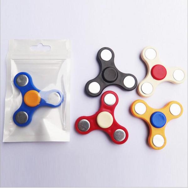 best selling 500pcs HandSpinner Fingertips Spiral Fingers Fidget Spinner EDC Hand Spinner Acrylic Plastic Fidgets Toys Gyro Toys With opp bag
