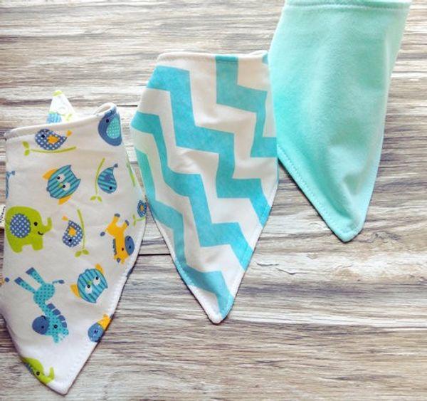 3pc/set Baby cotton Bibs burp Cloths Newborn double layer girls boys Waterproof Triangle Saliva Towel animal owl watermelon style bib YE010
