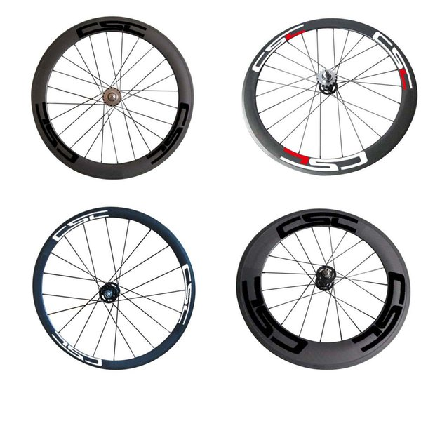 Full Carbon 24mm 38mm 50mm 60mm 88mm Clincher Tubular Fix Gear Wheelset Clincher Tubular Fix Gear Wheels Carbon Bike Wheelset for Track Bike