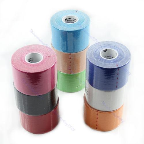 Venta al por mayor - 5 mx 5 cm Kinesiología Deportes músculos cuidado elástico fisio cinta terapéutica 1 rollo