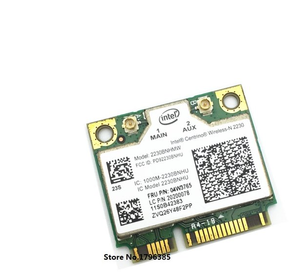 Wholesale- New Network Card for Intel Wireless-N 2230 2230BNHMW Wifi Bluetooth4.0 card FRU 04w3765 for IBM Lenovo Y400 Y500 E430 Y430P V580