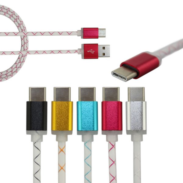 500pcs 1M USB 3.1 Type C to usb male to male USB Data Sync Charging Cable for Data Cable for mp3 mp4 New Macbook