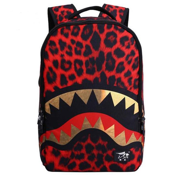 50pcs 2017 New Shark Anime Cartoon Cosplay Movies Backpack Travel School College Daypack Shoulder Bag For Girl Boy